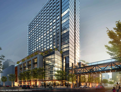 Nichols Brosch Wurst Wolfe & Associates, Champalimaud Design team up for luxury Marriott hotel at $3B Water Street Tampa project.