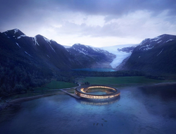 Snøhetta designs UFO-shaped Svart hotel in Norway's Arctic Circle.