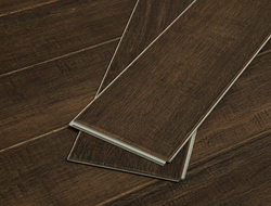 The engineered hardwood combines real timber with GeoCore, a stabilizing limestone composite foundation created exclusively by Cali Bamboo. Available in a variety of real woods.