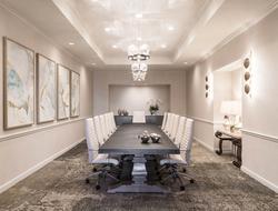 Coastal-chic atmosphere inspires Atwater Inc. Studio's renovation of event space of Hilton Santa Barbara Beachfront Resort.