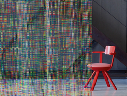 Carnegie collaborated with Swiss textile enterprise Création Baumann to introduce a new drapery line.