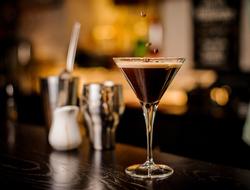 Espresso Martini on a bar