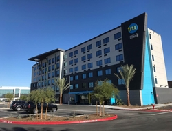 Owned by the United Brotherhood of Carpenters, the six-floor, 166-room Tru by Hilton Las Vegas Airport is the largest Tru by Hilton hotel property to date.