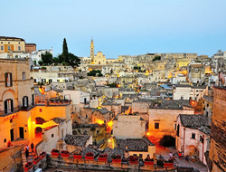 View of Matera in Italy