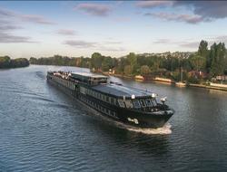 U by Uniworld's ship The B as it sails along the Seine