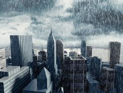 Rain Over City