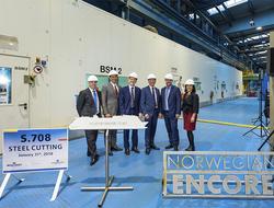 Norwegian Encore Steel Cutting Ceremony
