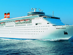 Exterior view of the Grand Classica from Bahamas Paradise Cruise Line