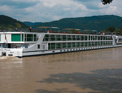 "Scenic Pearl is one of the five ""Space-Ships"" plying Europe's rivers."