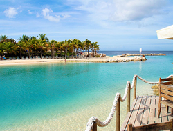 View on the Mambo Beach on the island curacao