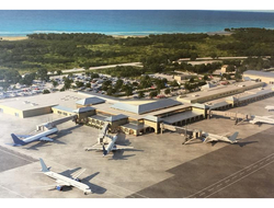 Top view of Cyril E. King Airport in Virgin Islands