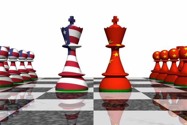 US China on chess board