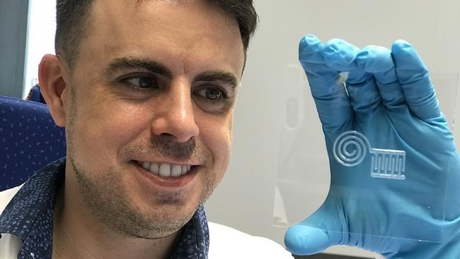 Nanocellulose sensor attaches to skin