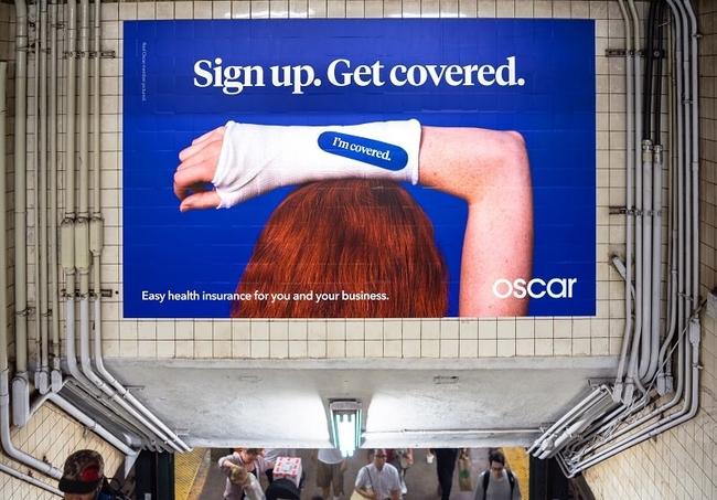 Oscar Insurance subway ad