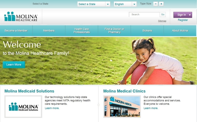 Molina Healthcare website