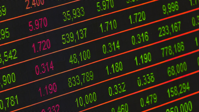 Financial market data. Image: Pixabay