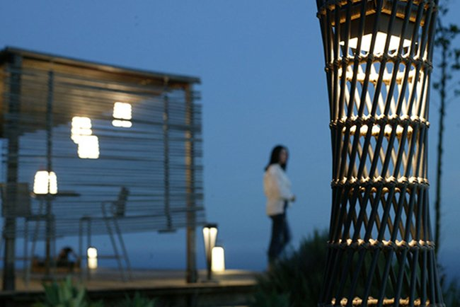 "The new design fuses vintage and modern elements to illuminates outdoor spaces with ""movement"" and light."