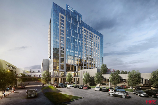 Sam Moon Group is the hotel developer; Brasfield & Gorrie is the contractor; HKS is the architect; and Looney & Associates is managing the interior design.
