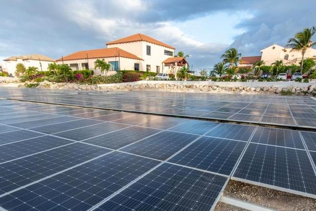 Frangipani Beach Resort goes green with new solar energy system.