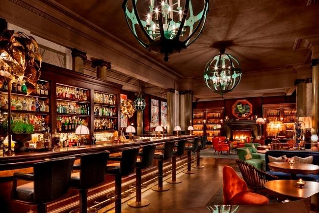 Interior of Scarfes Bar at Rosewood London