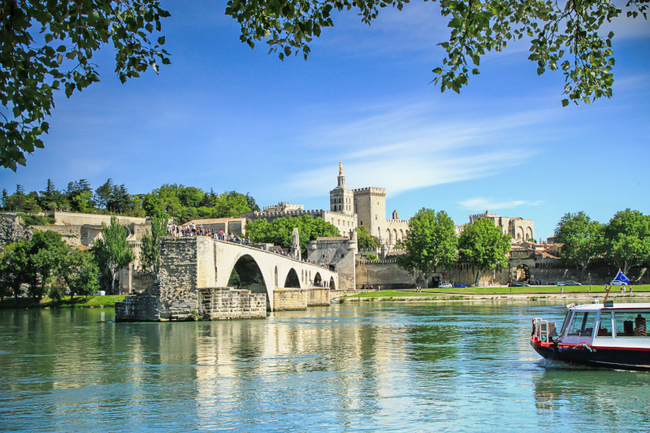 Avignon Rhone River France