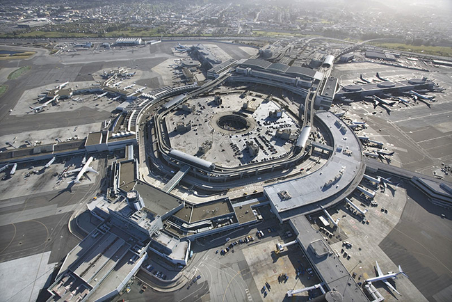 Aerial view of San Francisco Airport