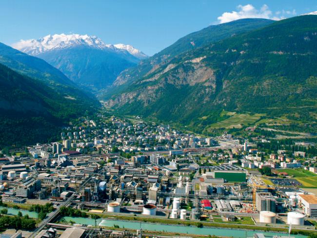 Lonza's Visp, Switzerland location