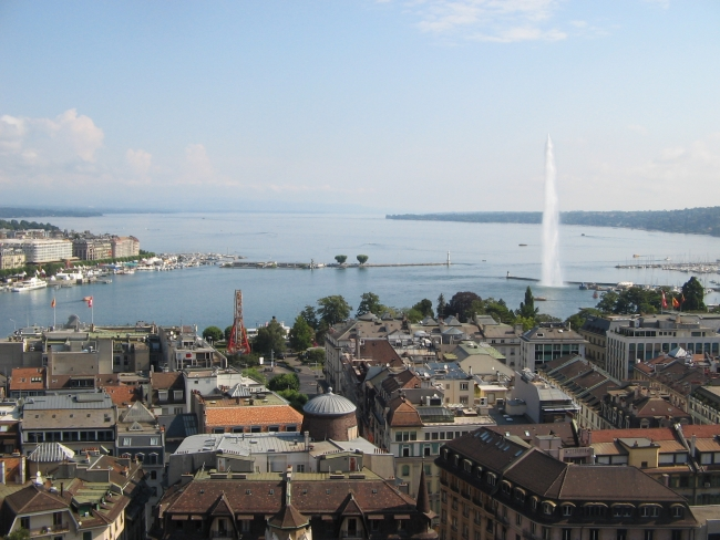Fountain on Lake Geneva