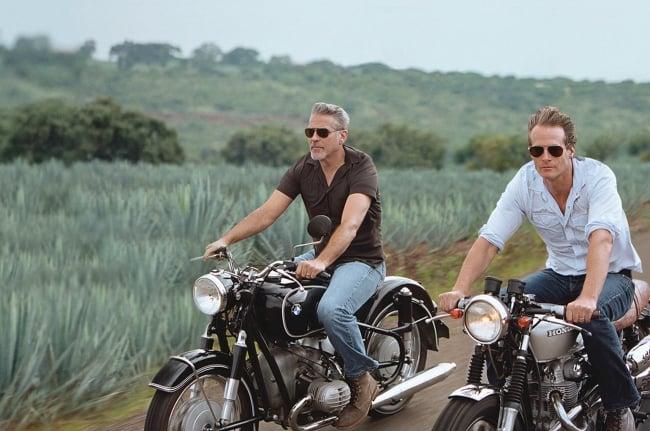 Rander Gerber and George Clooney on motorcycles