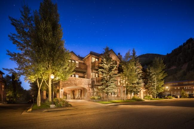 Hotel Telluride Exterior Summer Night
