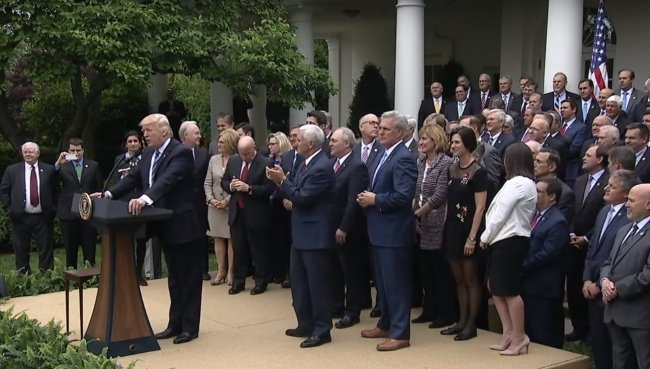 Donald Trump speaks in White House Rose Garden