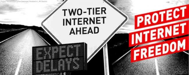 Net neutrality image from ACLU