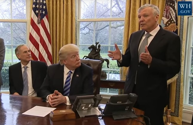 Charter's Rutledge meets President Trump in the Oval Office along with Texas Governor Greg Abbott