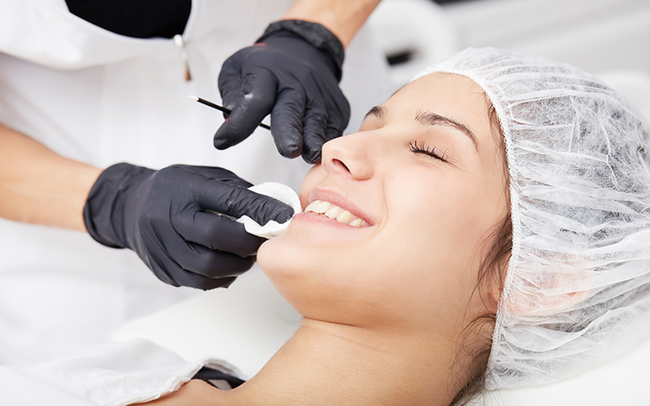 LED therapy treatment facial microneedling