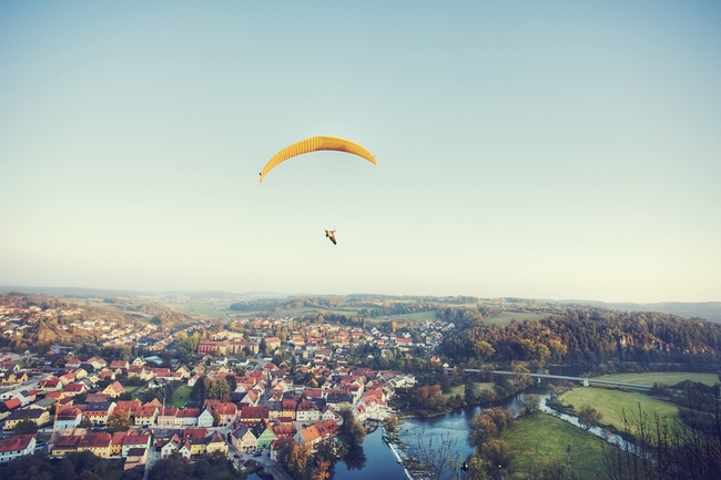 Parachute landscape