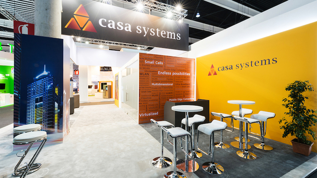 Casa Systems Mobile World Congress booth