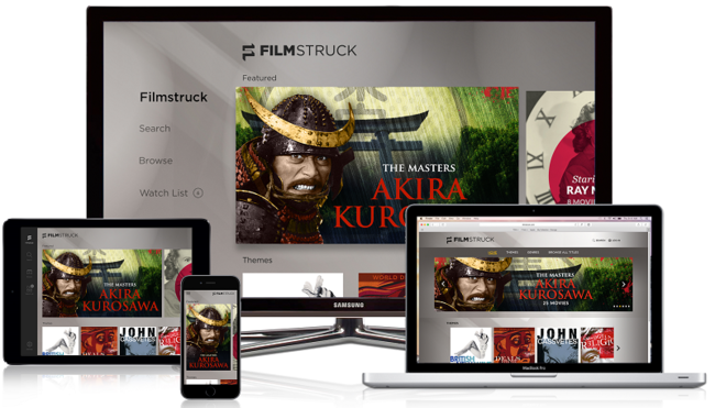 FilmStruck will feature classic movie collections including several Akira Kurosawa films. Image: FilmStruck