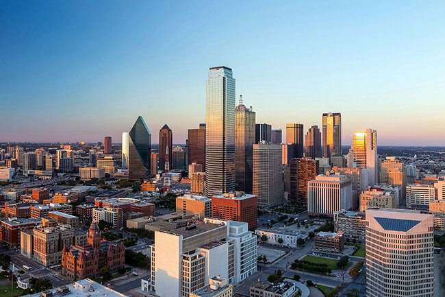 Aerial view of Dallas Texas