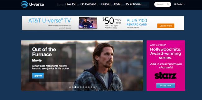 U-verse website