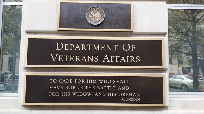 Veterans affairs sign