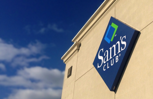 front of a large sam's club store