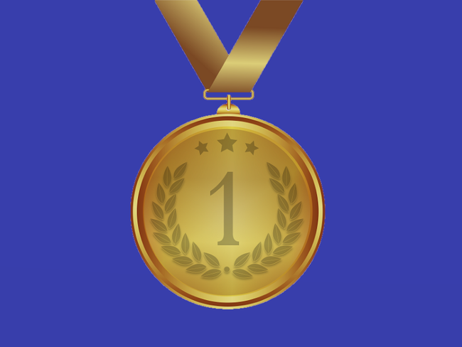 Medal with blue background (Pixabay)