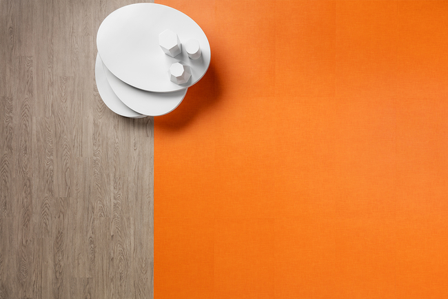 The new collection features two luxury vinyl flooring designs — called Tela and Colour — in 28 color options.