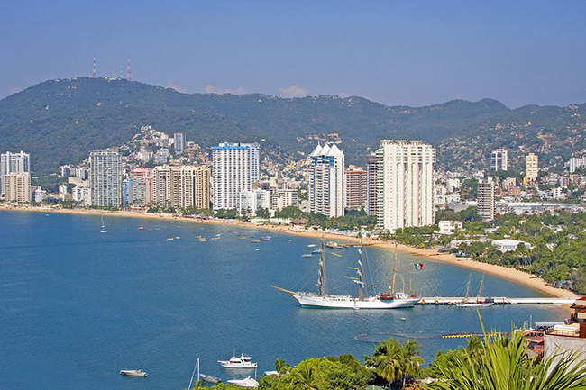 Beach in Acapulco Mexico