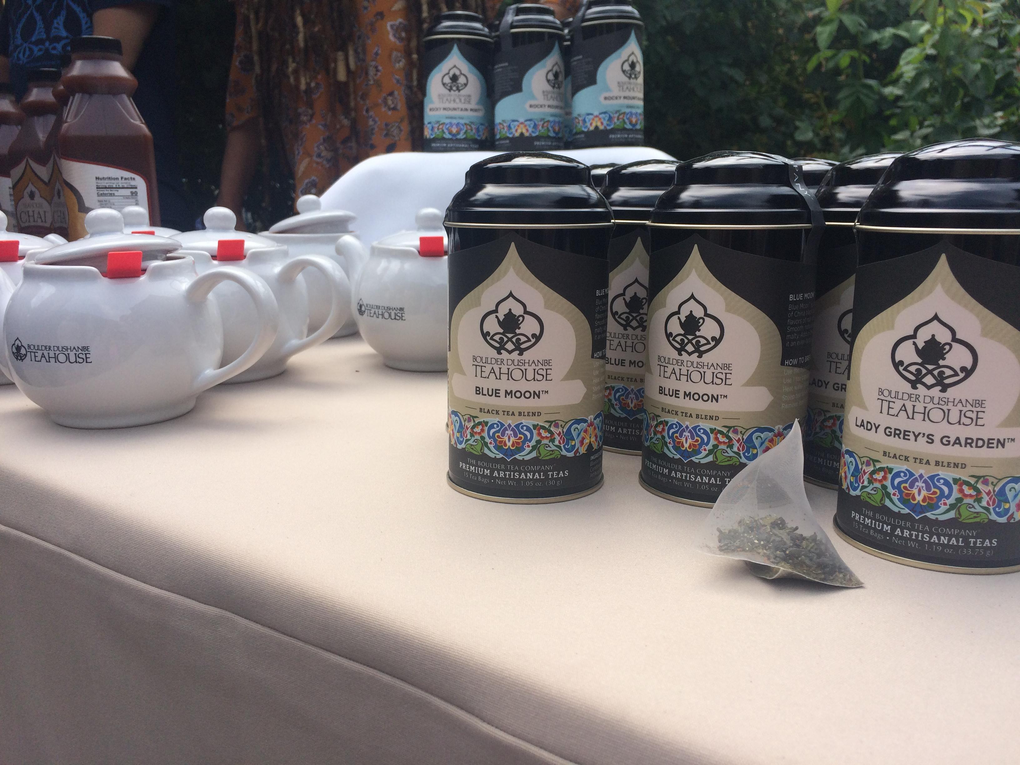 Boulder Dushanbe Teahouse teas and teapots